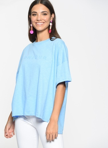 Loves You Bonjour T-Shirt Mavi